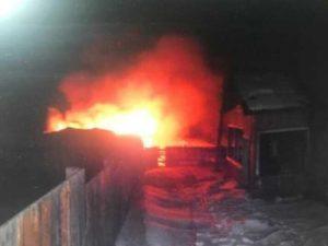 Поджог бани за сколько сгорит