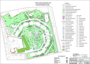 Инвентаризационный план земельного участка
