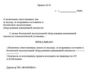 Образец приказа на ответственного за бдд 2020