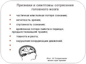 Дают ли отсрочку с сотрясением мозга