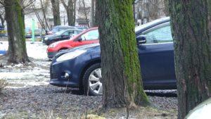 Парковка на газоне куда жаловаться мытищи