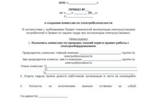 В каких случаях создается приказ о проверке знаний по электробезопасности