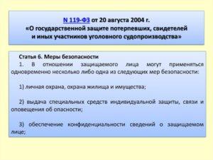 119 фз о государственной защите практика