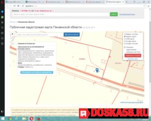 Росреестр публичная кадастровая карта пенза