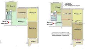 Расширить коридор за счет жилой комнаты