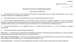 Положение о режиме работы коммерческого отдела типография
