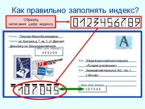 Как написать правильно почтовый индекс
