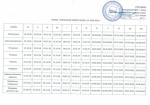График генеральной уборки в детском саду по санпин