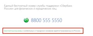 Номер горячей линии сбербанка пермь