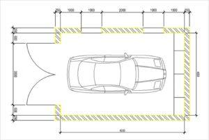 Стандартные размеры гаража на 1 машину