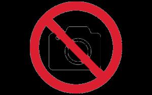 Знак фотографировать запрещено